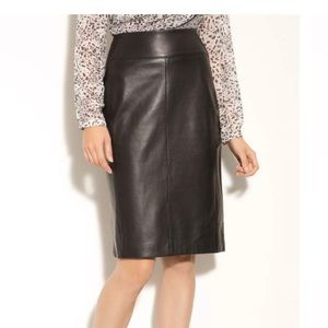 Classiques entier Brenna leather skirt